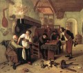 In The Tavern Dutch genre painter Jan Steen
