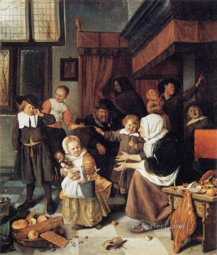 Jan Steen Painting - Nick Dutch genre painter Jan Steen