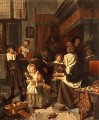 The Feast Of St Nicholas Dutch genre painter Jan Steen