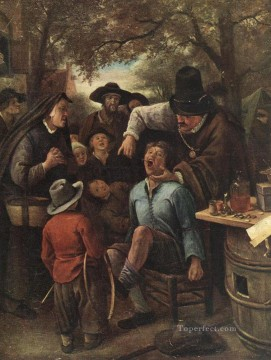 Jan Steen Painting - The Quackdoctor Dutch genre painter Jan Steen