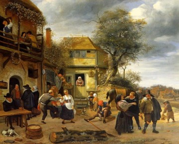 Jan Steen Painting - Peasants Dutch genre painter Jan Steen