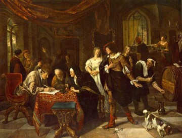 The Marriage Dutch genre painter Jan Steen Oil Paintings