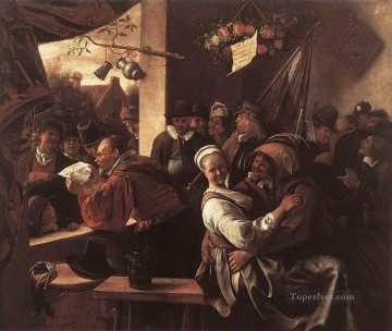 Jan Steen Painting - The Rhetoricians Dutch genre painter Jan Steen