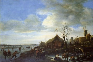Jan Steen Painting - Winter Dutch genre painter Jan Steen