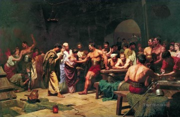 Gladiators Before Appearing on the Arena Stephan Bakalowicz Ancient Rome Oil Paintings