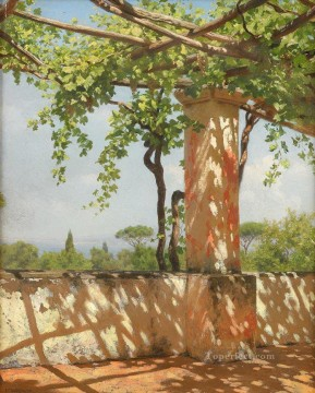 grape tree Stephan Bakalowicz Ancient Rome Oil Paintings