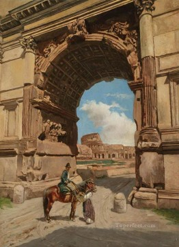 Arch of Titus Stephan Bakalowicz Ancient Rome Oil Paintings