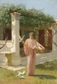 Feeding the doves Stephan Bakalowicz Ancient Rome