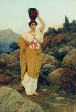 Greek Woman Stephan Bakalowicz Ancient Rome Oil Paintings