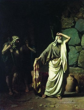 rome Painting - Jacob Recognizing Clothes of His Sin Joseph Sold by His Brothers to Egypt Stephan Bakalowicz Ancient Rome