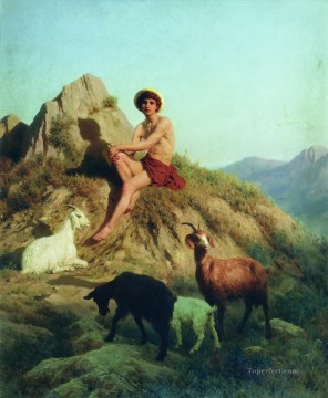 The Shepherd Stephan Bakalowicz Ancient Rome Oil Paintings
