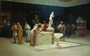 Reception at Maecenas Stephan Bakalowicz Ancient Rome Oil Paintings