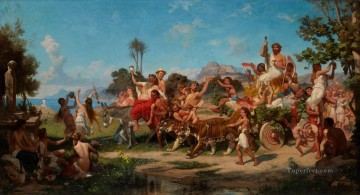 Bacchanalia Stephan Bakalowicz Ancient Rome Oil Paintings