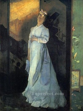 Alfred Stevens Painting - The Farewell Note lady Belgian painter Alfred Stevens