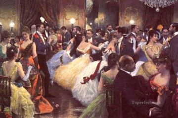Julius LeBlanc Stewart Painting - The Ball women Julius LeBlanc Stewart