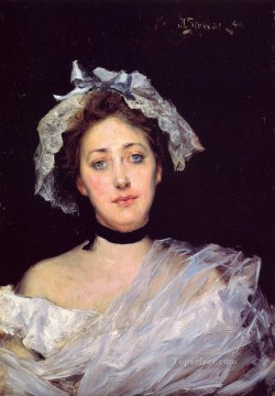 Julius LeBlanc Stewart Painting - An English Lady women Julius LeBlanc Stewart