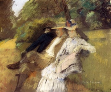 Julius LeBlanc Stewart Painting - In The Park women Julius LeBlanc Stewart