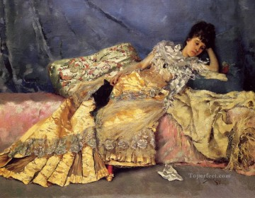 Julius LeBlanc Stewart Painting - Lady On A Pink Divan women Julius LeBlanc Stewart