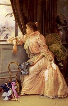 Julius LeBlanc Stewart Painting - Room With a View women Julius LeBlanc Stewart