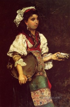 Julius LeBlanc Stewart Painting - Spanish Girl women Julius LeBlanc Stewart