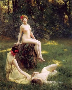 Julius LeBlanc Stewart Painting - The Glade women Julius LeBlanc Stewart