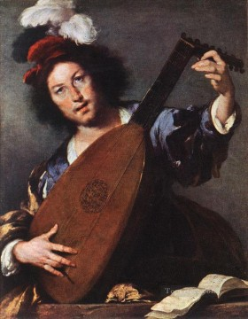 Lute Player Italian Baroque Bernardo Strozzi Oil Paintings