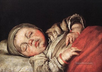 italian Painting - Sleeping Child Italian Baroque Bernardo Strozzi