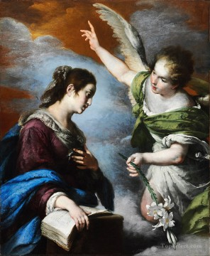 Strozzi Painting - The Annunciation Italian Baroque Bernardo Strozzi