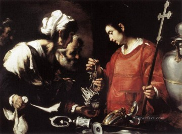 Strozzi Painting - The Charity Of St Lawrence Italian Baroque Bernardo Strozzi