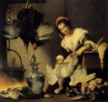 italian Painting - The Cook Italian Baroque Bernardo Strozzi