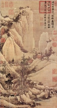 clearing after snow on a mountain pass 1507 old China ink Oil Paintings