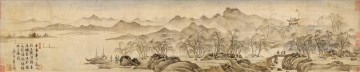 scenery old China ink Oil Paintings
