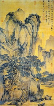 sound of pines on a mountain path 1516 old China ink Oil Paintings