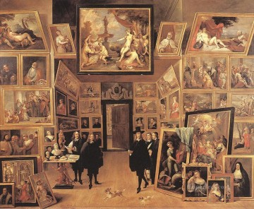 David Teniers the Younger Painting - Archduke Leopold Wilhelm In His Gallery 1647 David Teniers the Younger