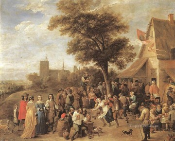 David Teniers the Younger Painting - Peasants Merry making David Teniers the Younger