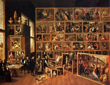 The Archduke Leopold Wilhelm s Studio David Teniers the Younger Oil Paintings