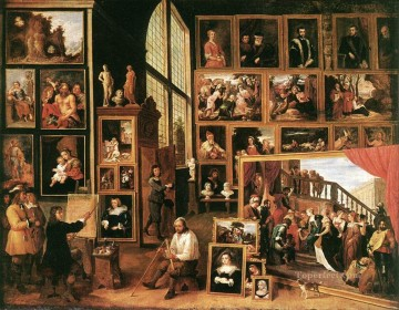 The Gallery Of Archduke Leopold In Brussels 1639 David Teniers the Younger Oil Paintings