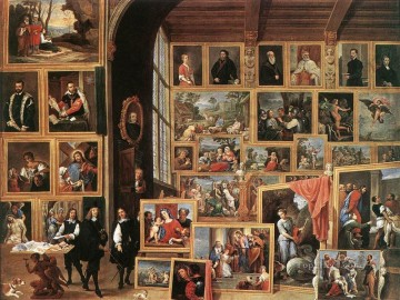 The Gallery Of Archduke Leopold In Brussels 1640 David Teniers the Younger Oil Paintings