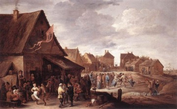 David Teniers the Younger Painting - Village Feast David Teniers the Younger