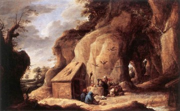David Teniers the Younger Painting - The Temptation Of St Anthony David Teniers the Younger