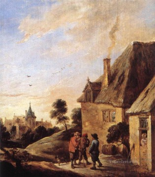 David Teniers the Younger Painting - Village Scene 2 David Teniers the Younger