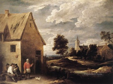 David Teniers the Younger Painting - Village Scene 1 David Teniers the Younger