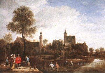 David Teniers the Younger Painting - A View Of Het Sterckshof Near Antwerp David Teniers the Younger