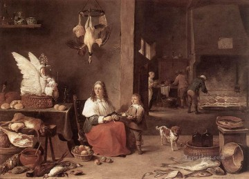 David Teniers the Younger Painting - Kitchen Scene 1644 David Teniers the Younger