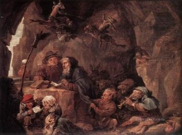 David Teniers the Younger Painting - Temptation Of St Anthony David Teniers the Younger