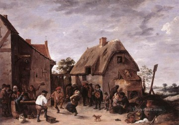 Flemish Kermess 1640 David Teniers the Younger Oil Paintings