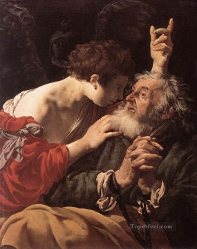 Hendrick ter Brugghen Painting - The Deliverance Of St Peter Dutch painter Hendrick ter Brugghen