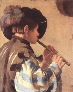 Lute Art - The Flute Player Dutch painter Hendrick ter Brugghen