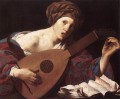 Woman Playing The Lute Dutch painter Hendrick ter Brugghen