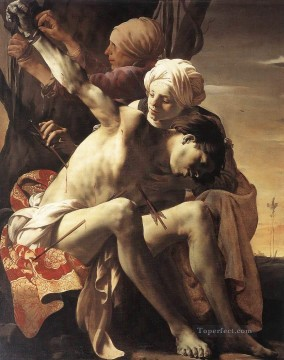 by Works - St Sebastian Tended By Irene And Her Maid Dutch painter Hendrick ter Brugghen